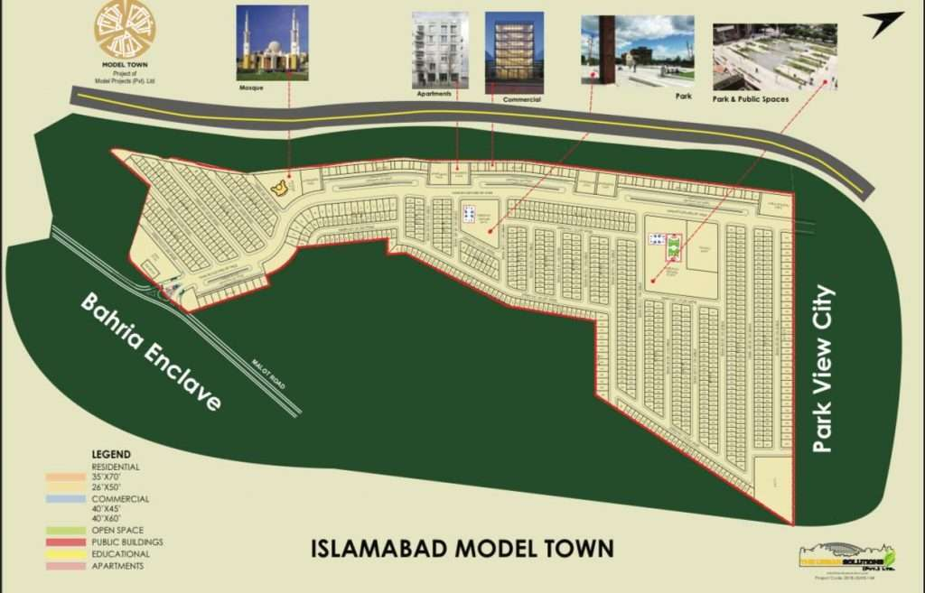 Islamabad Model Town Map